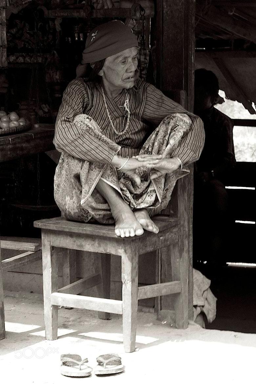 Photograph Old Lady Sitting by Jon Eickmeier on 500px