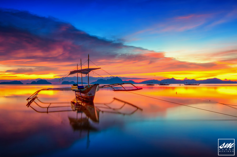 Photograph Calm Sunset in El Nido by Sunny Merindo on 500px