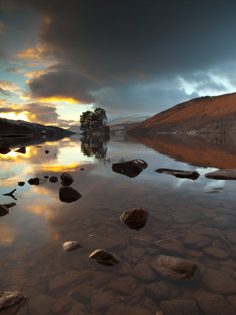 Photograph Winter Sunset, Loch Tay by Keith Muir on 500px