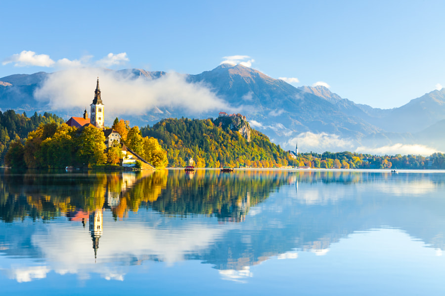morning in bled by Reinhold Samonigg on 500px.com