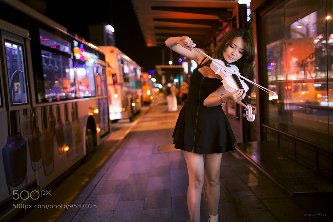 Photograph violinist in the city by Akira Yeh on 500px