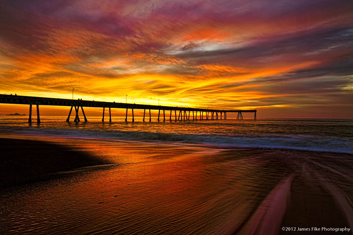 Photograph Pier Ablaze by James Fike on 500px