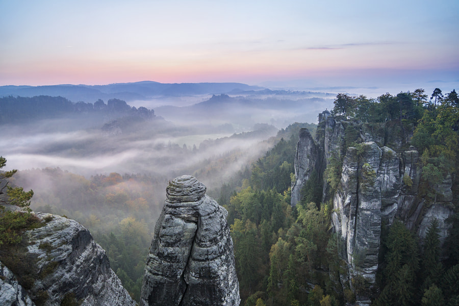 A morning in Saxon Switzerland by Fabian Fischer on 500px.com