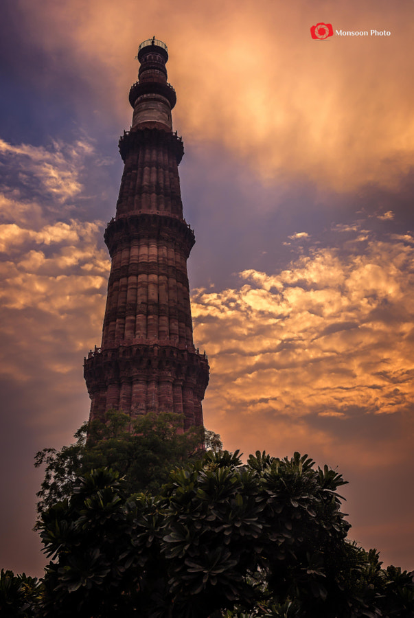 Photograph Qutub Minar Sunset by Monsoon Photo on 500px