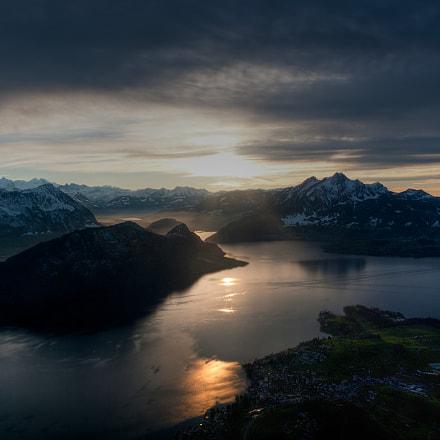 Rigi view over Lake Lucerne