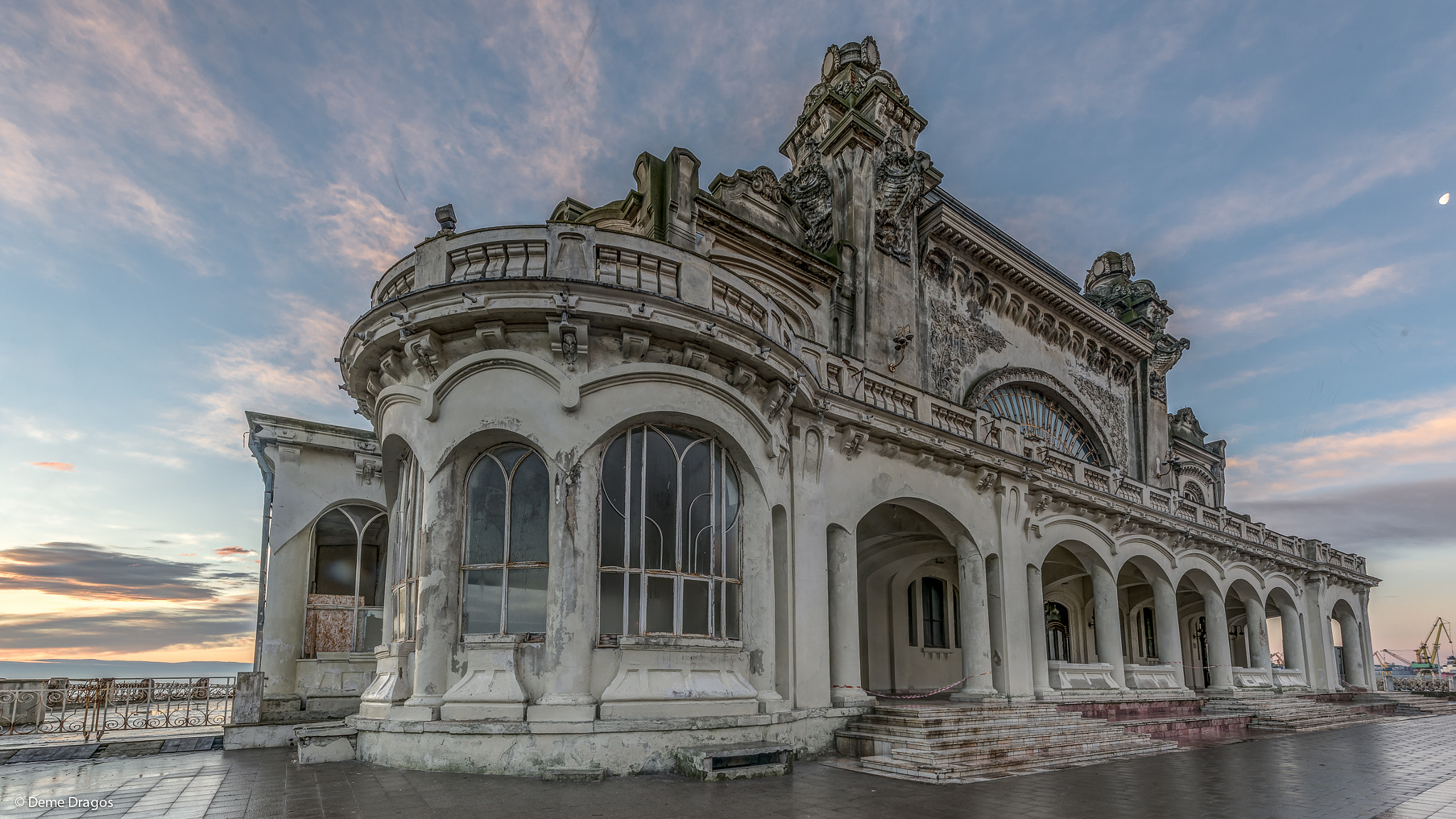 Abandoned Casino in Constanta near Seaside