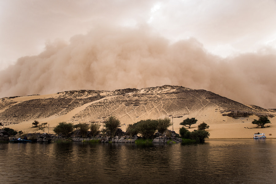 Photograph Sandstorm on Nile by Pavel Volkov on 500px