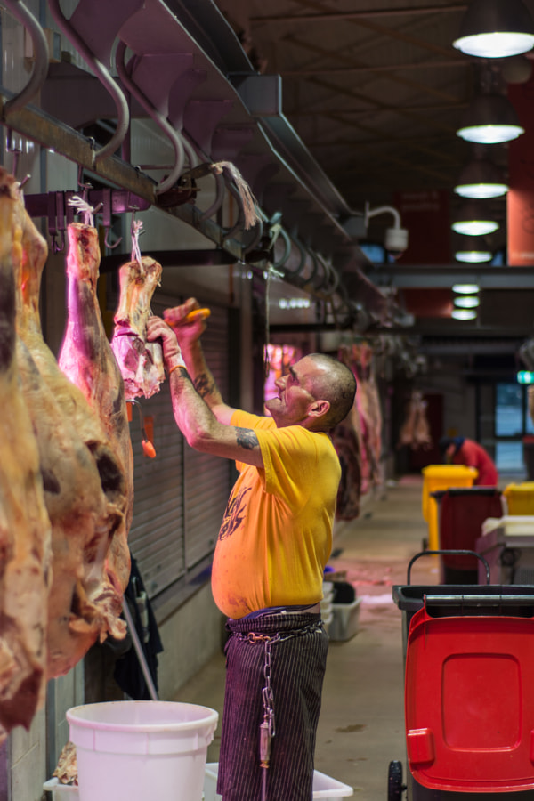Photograph Queen Vic Markets Butcher by David Cooling on 500px