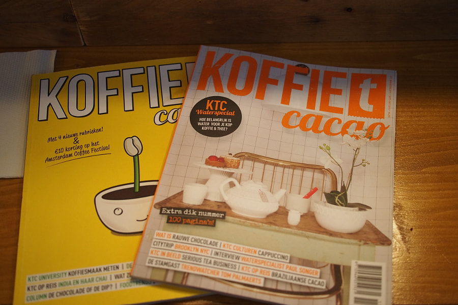 Photograph coffee magazines at Sweet Cup, Amsterdam by parentheticalpilgrim on 500px
