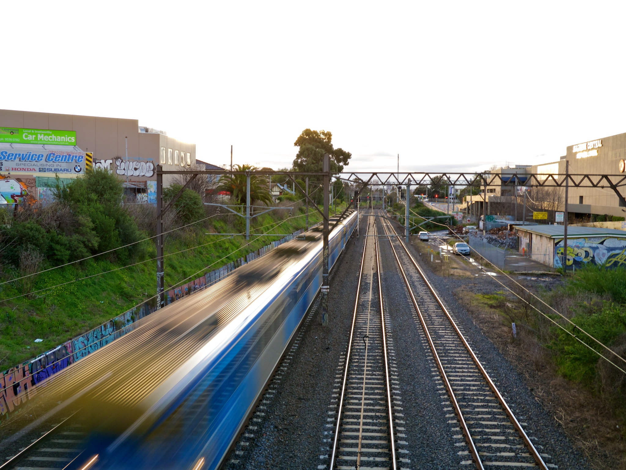 Photograph Train Pulls into Malvern Station by Steve Androulakis on 500px