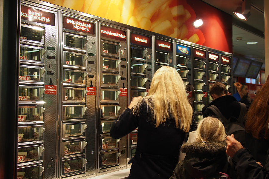 Photograph Smullers vending machine, Amsterdam Centraal Station by parentheticalpilgrim on 500px