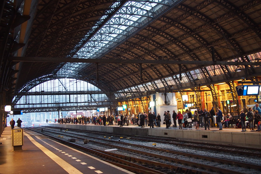 Photograph tracks, Amsterdam Centraal Station by parentheticalpilgrim on 500px