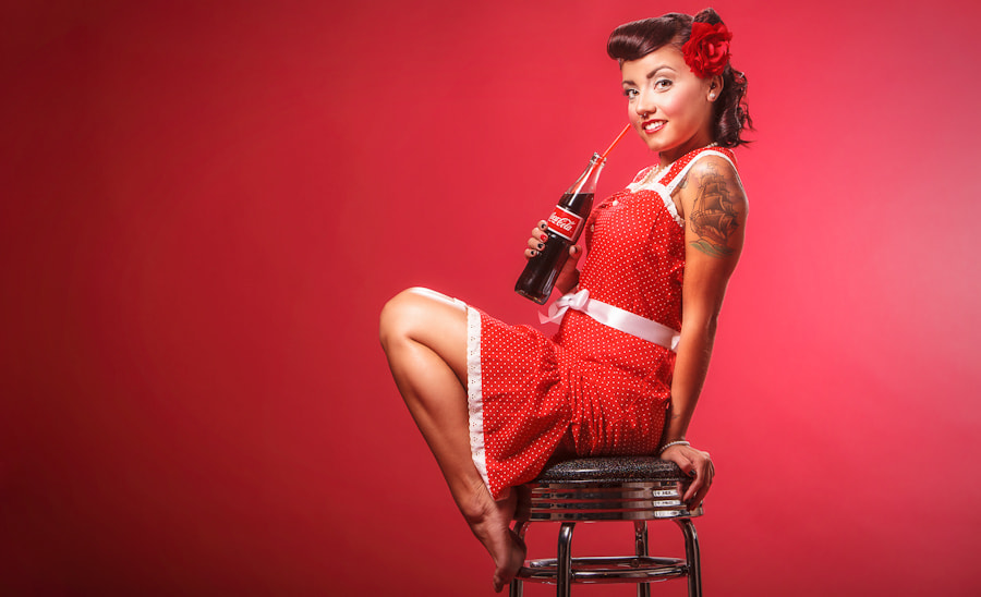 Photograph Coca-Cola Pin Up by Andy Martinez on 500px