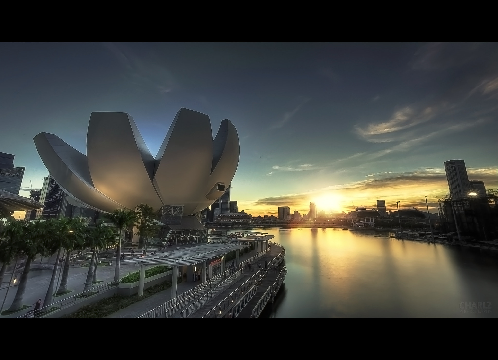 Photograph Sunset at Arts & Science Museum, Singapore. by Charlz Photography on 500px