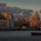 St. Paul's at sunset