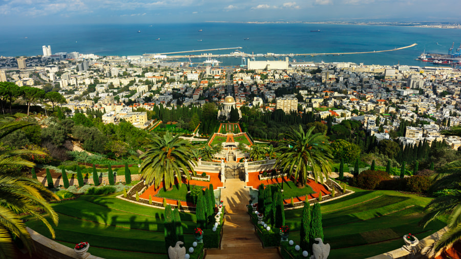 Bahai gardens by Anton Geltser on 500px.com