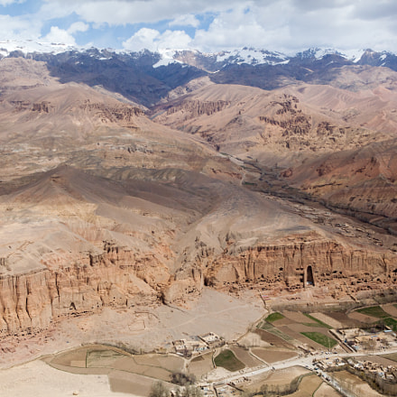 The Buddhas of Bamyan (aerial view)