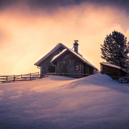 Old hut in the ski resort