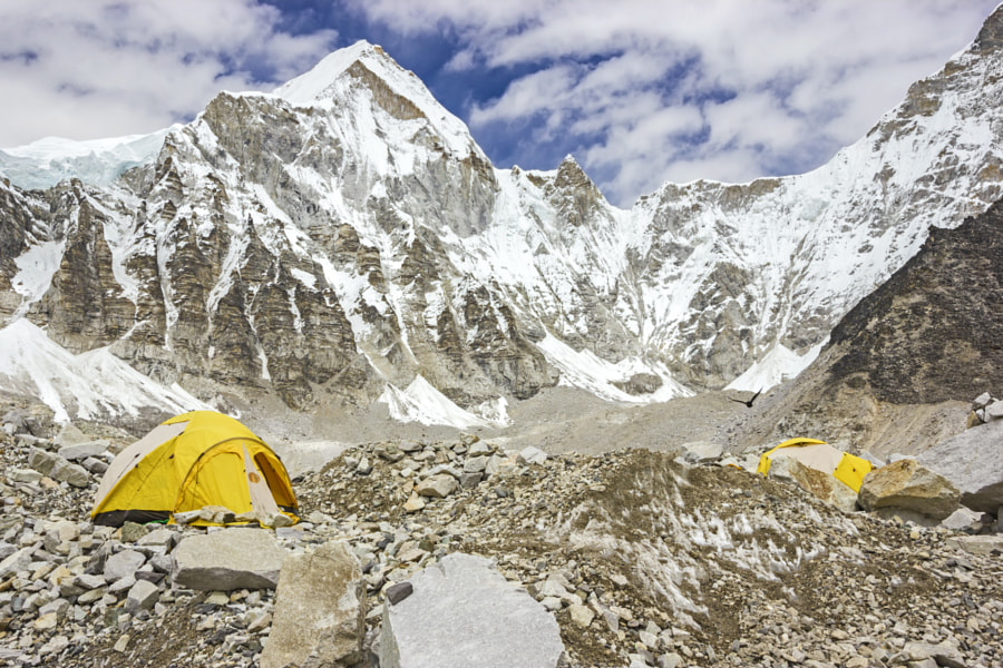 Tents in Everest Base Camp. by Maciej Bledowski on 500px.com