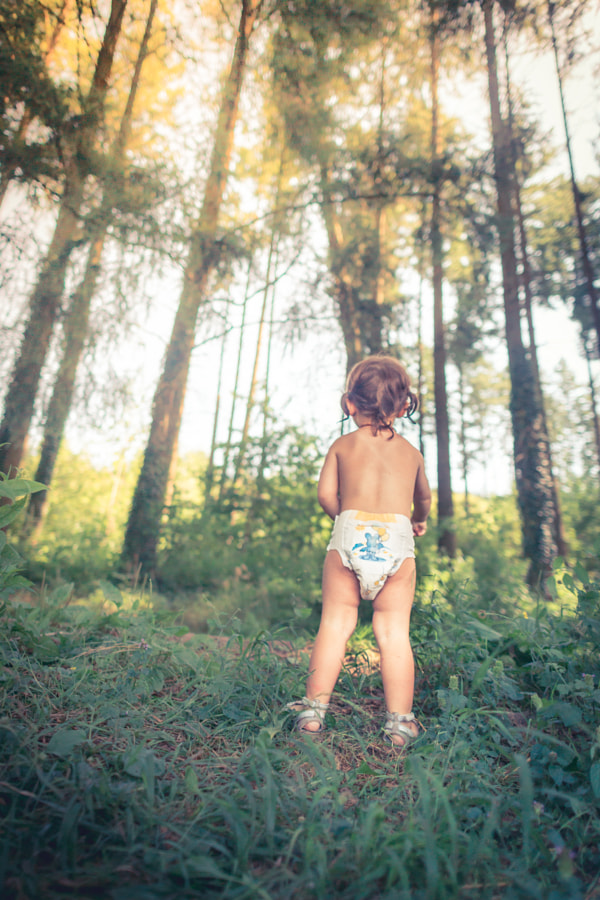 Baby in forest