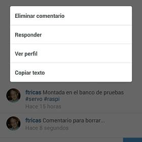 Borrar comentarios en Instagram