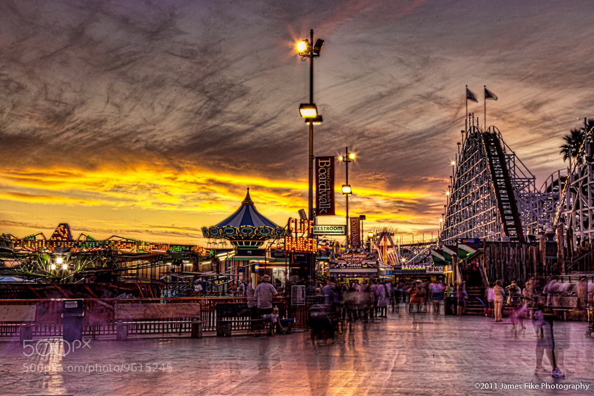 Photograph Sunset at the Boardwalk by James Fike on 500px