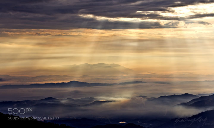 Photograph 晨光罩山峦 1 by SIAH TIONG MENG on 500px