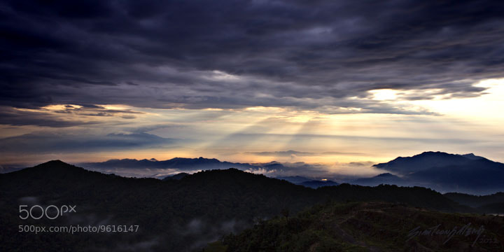 Photograph 晨光罩山峦 2 by SIAH TIONG MENG on 500px