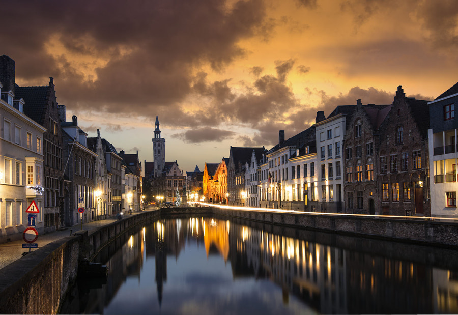 Photograph one night in Brugges by Silviu Bondari on 500px