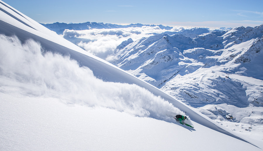 Photograph Powder (Telemark) Skiing in Austria by Christoph Oberschneider on 500px