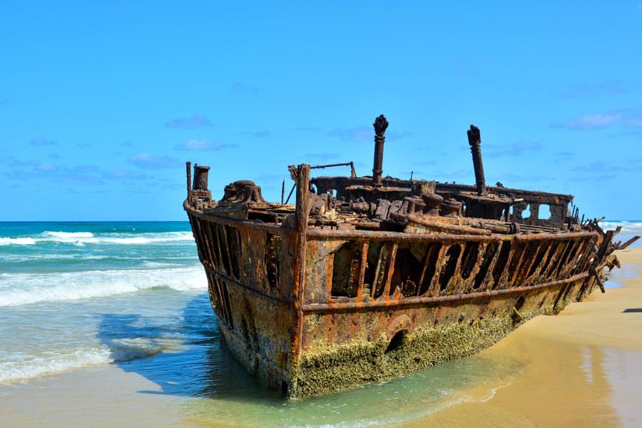 Maheno shipwreck, since 1935
