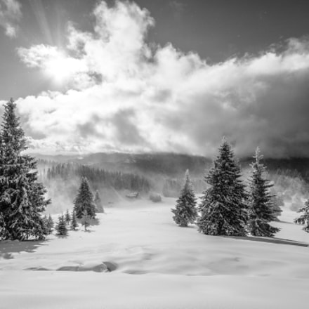 Pamporovo in B&W