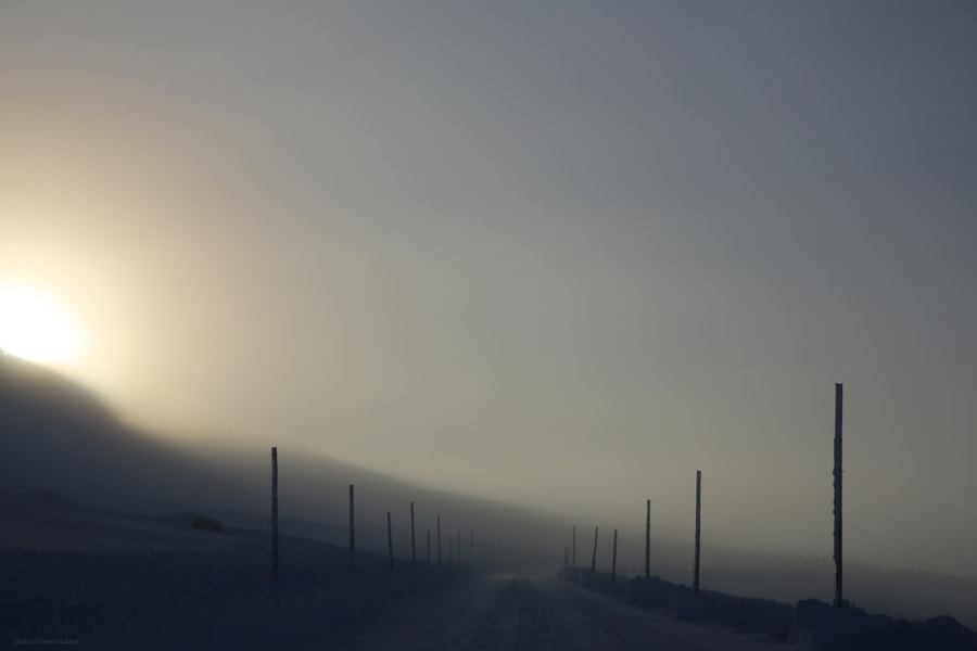 This magical morning the road over Hardangervidda was open for cars after beeing closed for a week. Alone on the mountain in -26C I hoped nothing bad would happen with the car.