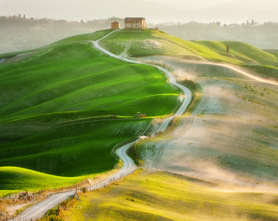 Photograph Farm on the hill by Marcin Sobas on 500px