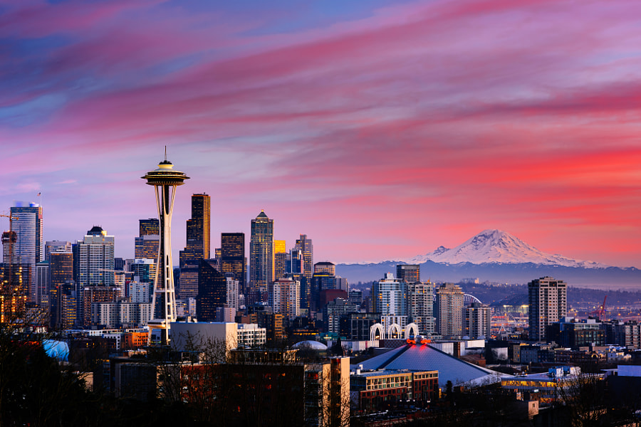 Photograph Seattle Sunset - Kerry Park by Matt Mitgang on 500px