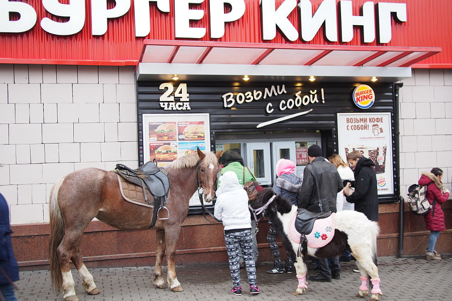 Photograph Burger King in Russia by parentheticalpilgrim on 500px