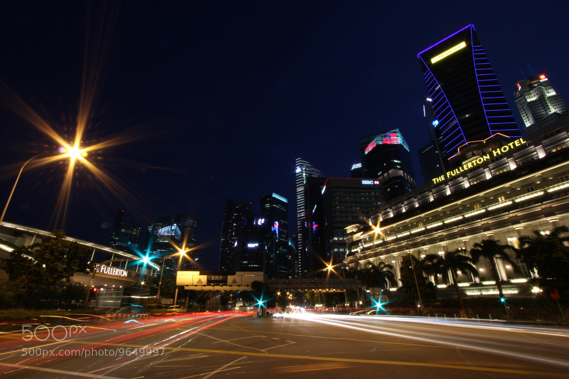 Photograph Singapore lights by Carlos Luque on 500px