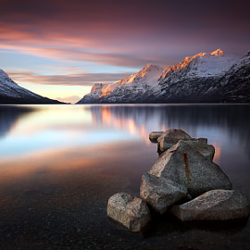 Ersfjordbotn Sunset by Gary Newman (GaryNewman)) on 500px.com