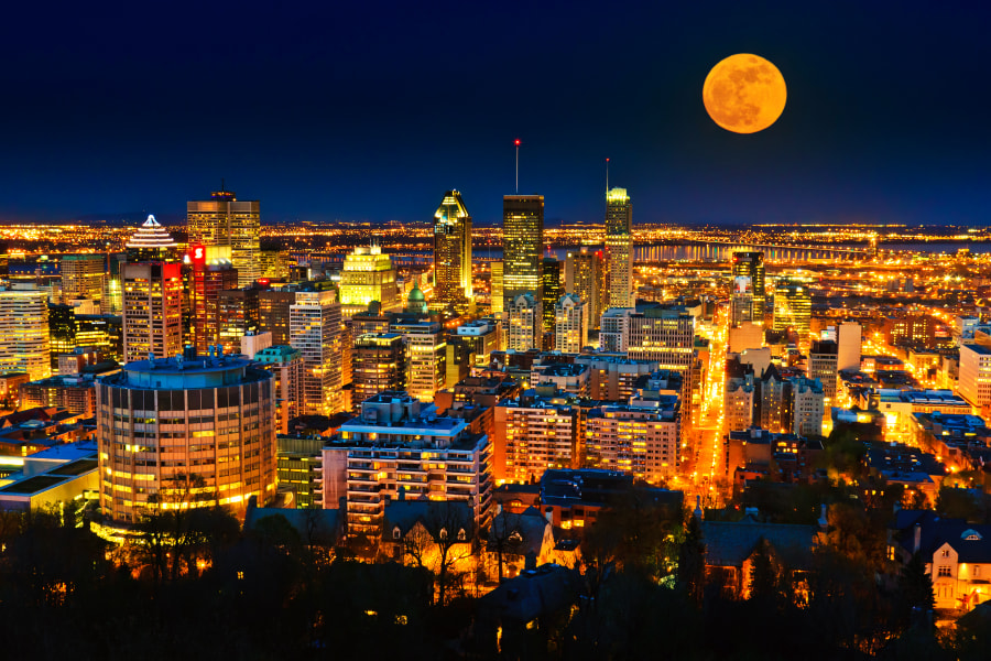 Montreal Supermoon by Dennis Baltzis on 500px.com