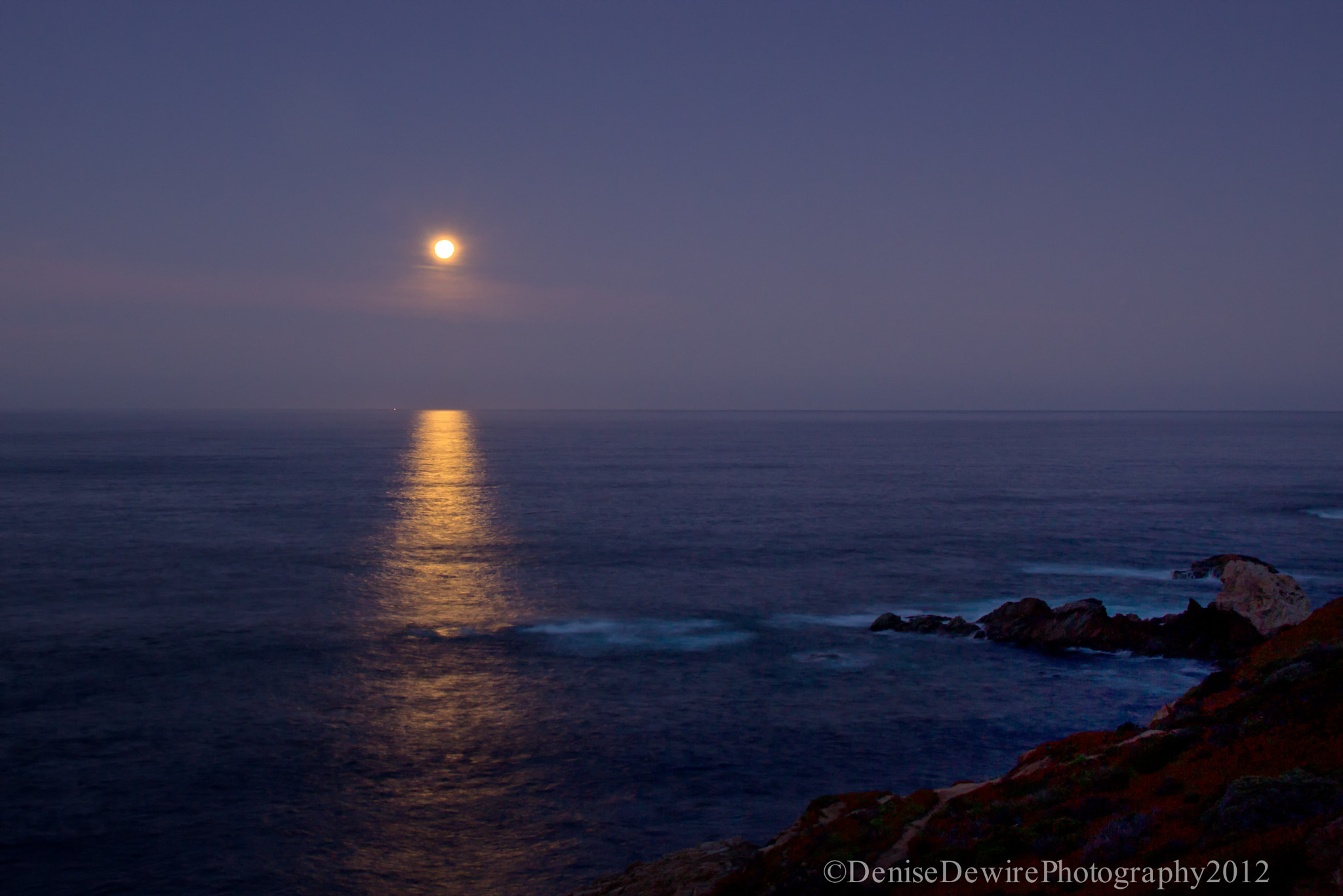 Photograph Moon Set by the Ocean by Denise Dewire on 500px