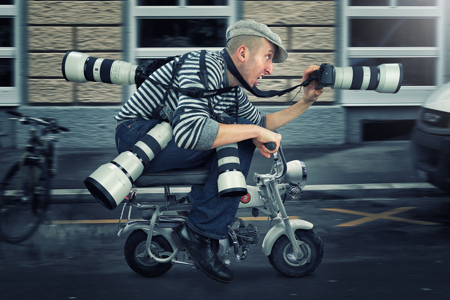Just a paparazzo in action by John Wilhelm is a photoholic on 500px.com