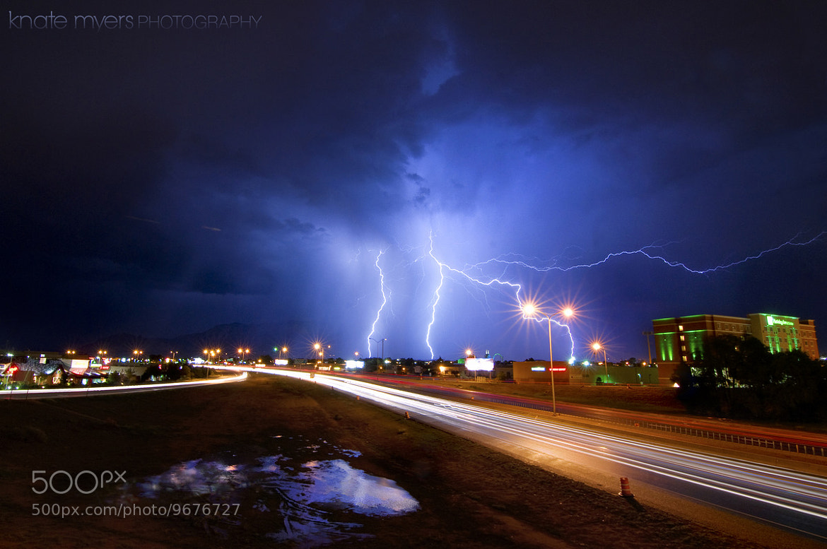 Photograph Orange Barrels & Lightning Ahead by Knate Myers on 500px