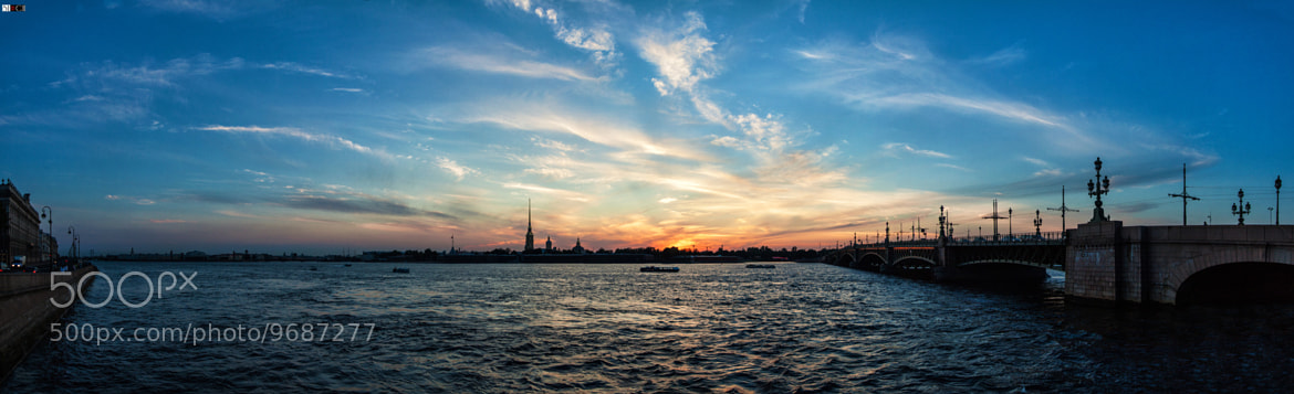 Photograph Sunset over St. Petersburg by Sergey SERCH on 500px
