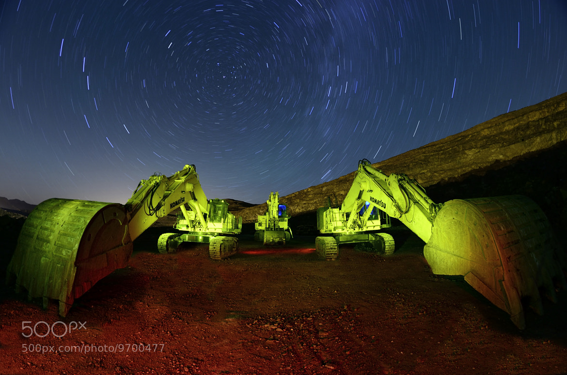 Photograph Excavadoras en la noche ( excavators at night) by Luis Reyero on 500px