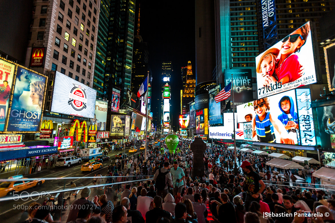 Photograph Times Square by night by Sébastien Panzarella on 500px