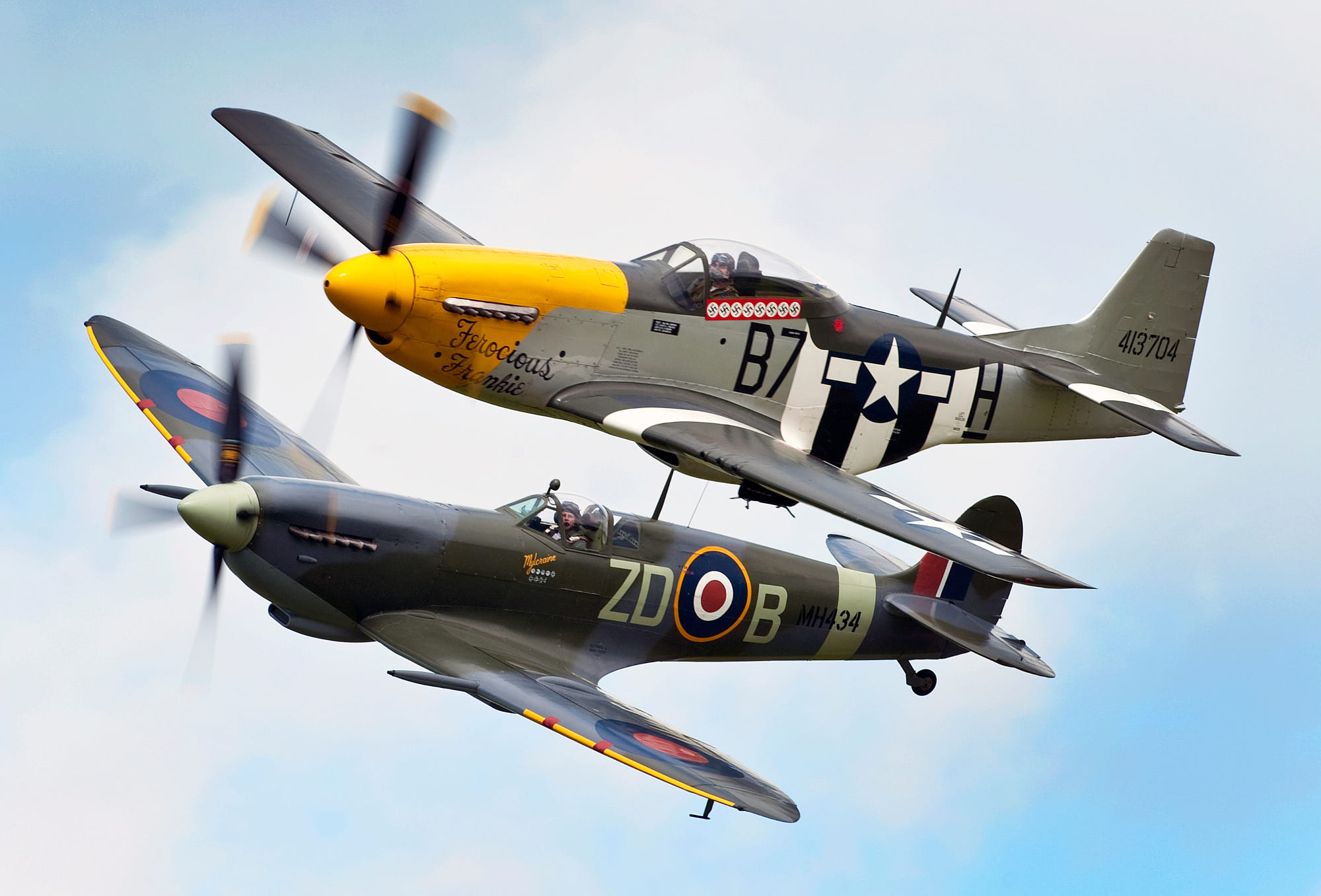 P51 Mustang And Spitfire By Rob Howarth Photo 9702349