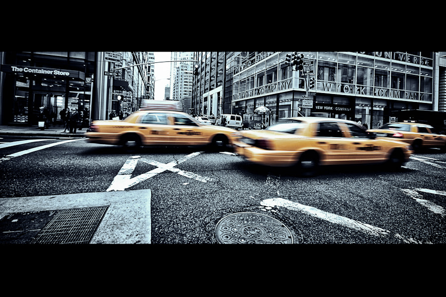 Photograph New York City Yellow Cabs by Loic Labranche on 500px