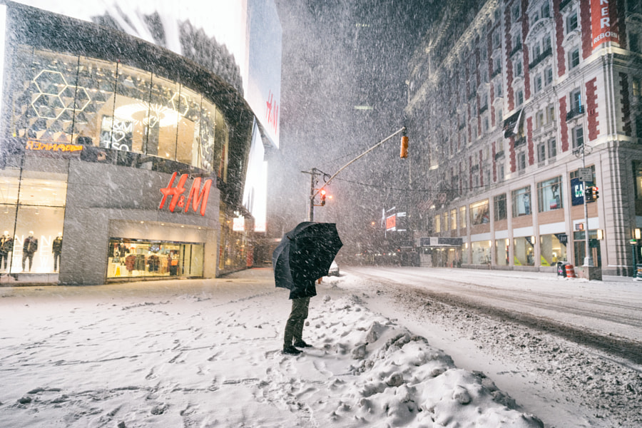 Photograph New York City - Winter Storm Juno - Times Square (of ) by Vivienne Gucwa on 500px