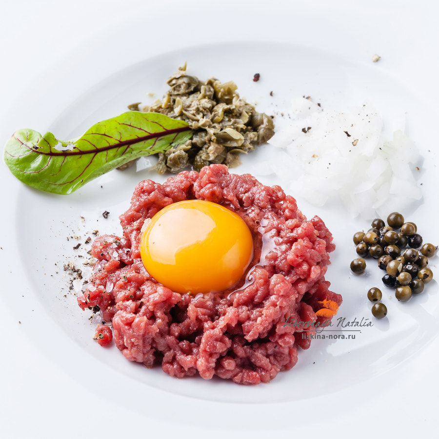 Beef tartare with capers and onion
