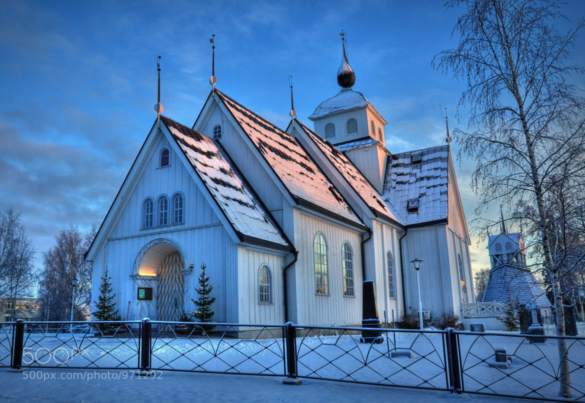 Photograph Piteå church in winter time by Michael Cavén on 500px